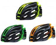 Casco Bici Corsa Adulto BRN ARROW BLACK con Striscia Colorata Rifrangente Giallo Arancio Verde