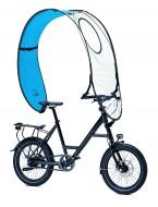 Copertura Bici Anti-Pioggia per Ciclista a 180° (Fronte-Retro e Parte Superiore)