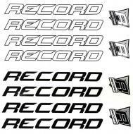 Adesivi o Decalcomanie per Telaio Bici Sportiva RECORD Bianco/Nero