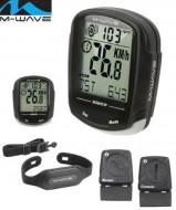 Computer Bici M-Wave Wireless Cardio Frequenzimetro 30 Funzioni