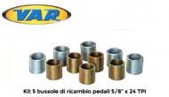 Kit Bussole per Filetto Destro o Sinistro per Pedali Bici passo 5/8