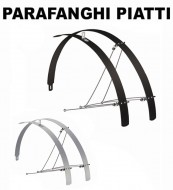 Parafanghi Bici 28 Pollici in Alluminio Piatti Senza Bombatura