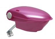 Bauletto Posteriore in Plastica per Bici Bimbo Colore Rosa