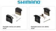 Pastiglie Freno Bici a Disco SHIMANO in Resina con Alette Modello H01A o J02A