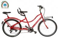 Bici TANDEM 2 Posti Bibici 26 Pollici Telaio Alluminio con Cambio Shimano 21 Velocità Modello DETROIT