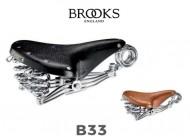 Sella Bici Brooks in Cuoio Modello B33 con Molla a Riccio Anteriore