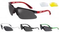 Occhiali Ciclista da Bici con 3 Lenti Intercambiabili Nera Giallo Trasparente BRN WEAVE