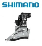 Deragliatore Cambio Marce Anteriore Bici SHIMANO XT per Doppia Corona 11 Velocità a Fascetta