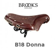 Sella Bici Brooks in Cuoio Modello B18 Donna Copertina Ricamata