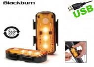 Fanali Bici LED Arancione Laterale alla Forcella Ricaricabile USB