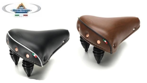 Sella stile vintage Marrone per bici bicicletta fixed con borchie senza molle