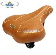 Sella Bici con Molle Colore Marrone Chiaro Miele