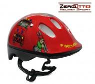 Casco Bici Bimbo da 2 a 5 Anni Taglia 48-52 cm Colore Rosso