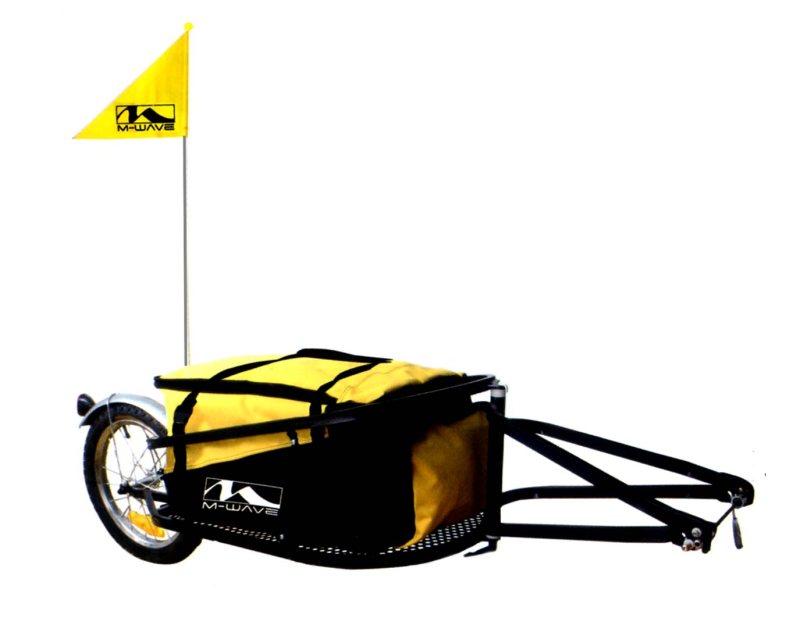 Carrello o Carretto Bici da Viaggio Cicloturismo per Trasporto Bagagli o  Merci Pieghevole in Alluminio 3b8e9a69b7a