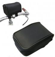Bustino al Manubrio Bici Fissaggio con Velcro, Chiusura a Cerniera