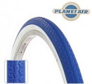 Copertone Gomma Bici 26 Pollici Misura 26x1.3/8 o 35-590 Colore Blu con Fascia Bianca