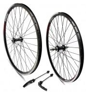 Ruote Bici Mountain Bike, MTB 26x1.50/2.125 Cerchio Profilo Alto 25 mm Colore Nero 6/7 Velocità