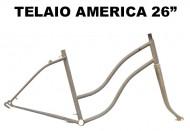 Telaio Bici 26 Pollici in Acciaio Tipo America Americana