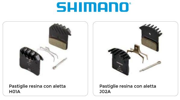 SHIMANO PASTIGLIE Freno Resina J02A con Aletta