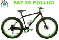 Bici 26 Pollici Adulto MTB FAT BIKE Telaio in Alluminio Freni a Disco Modello BIG DADDY