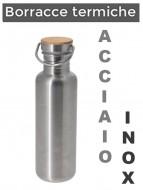 Borraccia Fiaschetta Bici Vintage Eroica INOX Tappo in Sughero 750 ml.