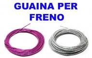 Guaina Freno Bici 5 mm Colore Lucido Fucsia o Argento Lucida