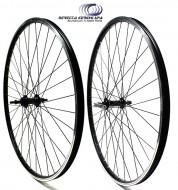 Ruote Alluminio City Bike 28 o 700x35 Beretta Cerchio Nero 18 mm