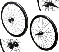 Ruote Bici FIXED PISTA 28 Pollici o 700x18/25 Cerchio Profilo con Mozzo Frenante Contropedale
