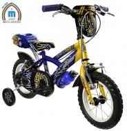 Bici 12 Pollici Bimbo da 2 a 5 anni con Stabilizzatori Modello ALL-STAR