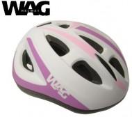 Casco Bici Bimba da 5 a 9 Anni Taglia 52-56 cm Colore Bianco