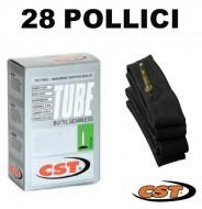 Camera d'Aria Interna Bici 28 Pollici 28x5/8x1/4-1/8 o 700x25/32 o 25/32-622 CST