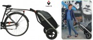 Carrello Bici Porta Borsa Shopping Trailer Trasporto Merci