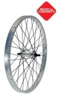 Ruota Bici 20 Pollici Cerchio Lucido Raggi Neri Anteriore o Posteriore 1 Velocità