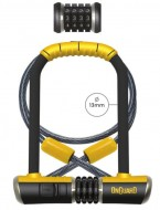 Lucchetto Antifurto Bici Moto in Acciaio Temperato ad Arco 13 mm a Combinazione con Cavo