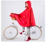 Mantella Poncio Impermeabile Antipioggia per Bici con Cappuccio