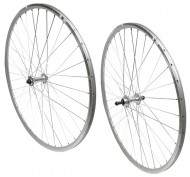 Ruote Bici Corsa 28 o 700x18/23 Retrò Vintage Cerchio in Alluminio Profilo 19 mm Colore Silver