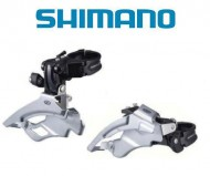 Deragliatore Cambio Marce Anteriore Bici SHIMANO DEORE per Tripla Corona 9 Velocità