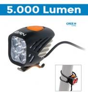 Fanale Bici Anteriore e Posteriore a Batteria Ricaricabile con Controllo Wireless THOR 5000 Lumen