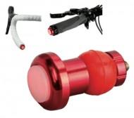 Luce Laterale LED Rosso per Estremità Manubrio Bici