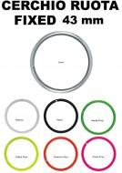 Cerchio Ruota Bici FIXED PISTA Misura 28 Pollici o 700x18/28 Profilo Alto 43 mm Colorati