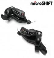 Comandi Cambio Marce Bici Stef Microshift 3x8 Velocità