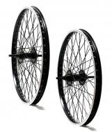 Ruote Bici 20 Pollici BMX Graziella Rinforzate 48 Raggi Colore Nero