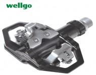 Pedali Bici DUAL WELLGO Alluminio Forgiato Perno su Cuscinetto