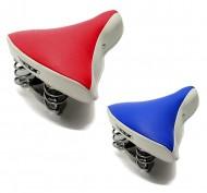 Sella Bici Vintage Bicolore Bianco/Blu o Bianco/Rossa