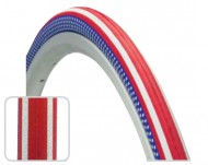 Copertone Gomma Bici 28 Pollici Misura 700x25 o 25-622 Bici Corsa Fixed Colore Stelle e Striscie Bandiera America