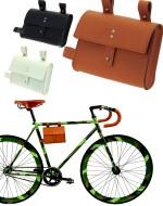 Bustino Rettangolare al Telaio Bici in Semil-pelle Colori Vintage