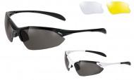 Occhiali Ciclista da Bici con 3 Lenti Intercambiabili Nera Giallo Trasparente BRN TWIST