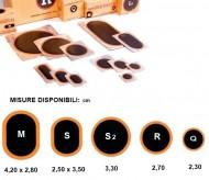 Pezze da Riparo Sagomate per Camera d'aria Bici o Moto 10 pz.