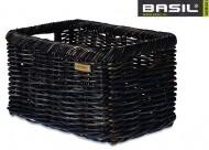 Cesto Bici Anteriore in Vimini Rinforzato BASIL Noir 51x35 cm