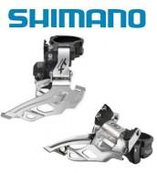Deragliatore Cambio Marce Anteriore Bici SHIMANO XT per Doppia Corona 10 Velocità a Fascetta